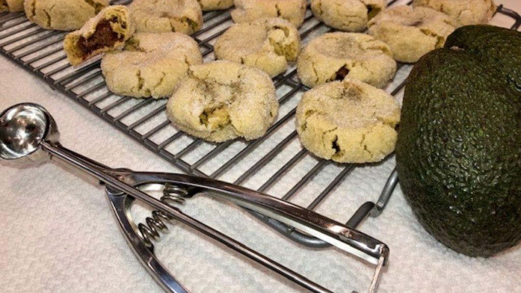 nutella stuffed avocado cookies