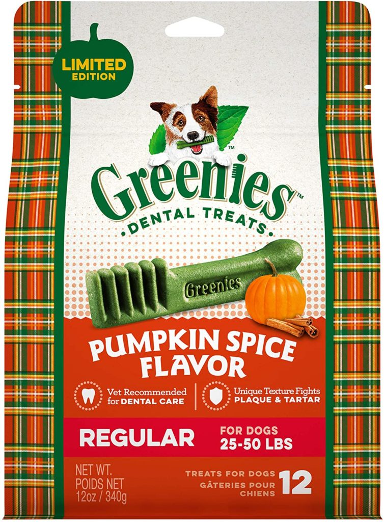 pumpkin spice greenies for dogs