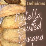 nutella stuffed banana cookies