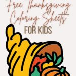 free kids thanksgiving coloring sheets
