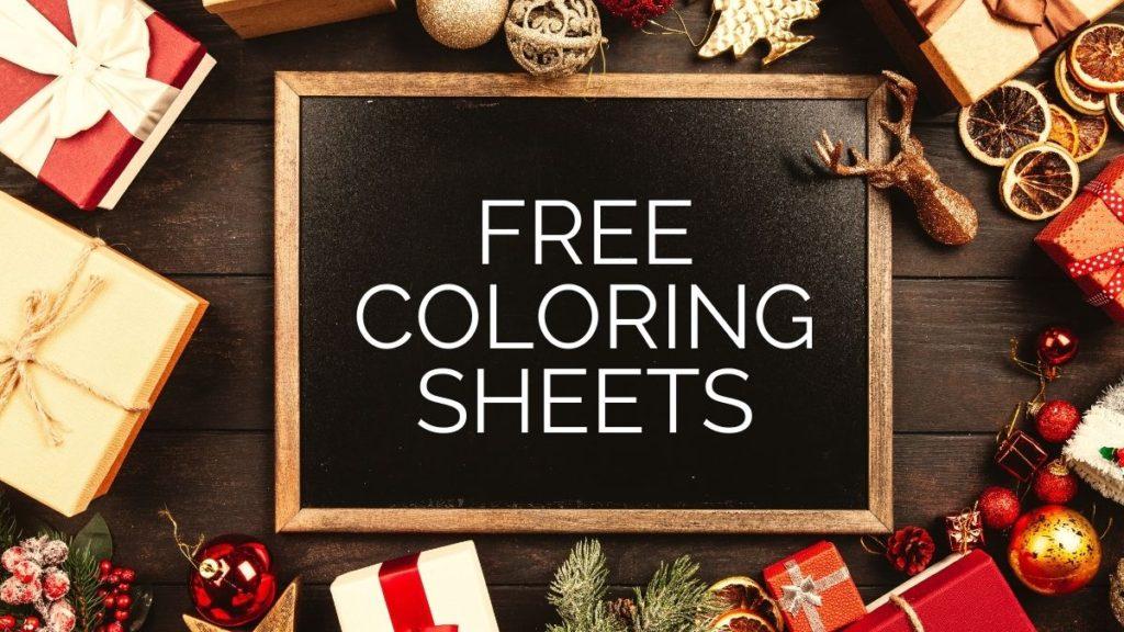 free christmas coloring sheets