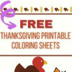 free printable thanksgiving coloring sheets