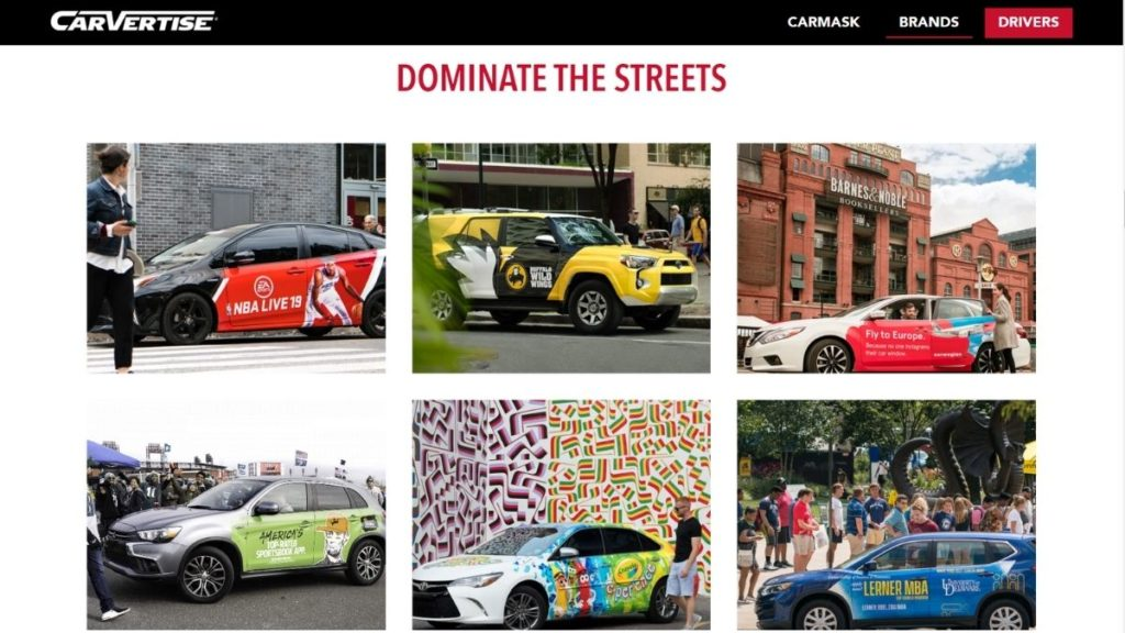 car advertisements for money