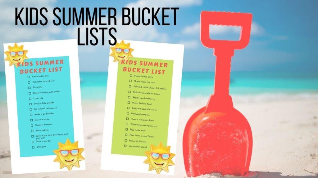 kids summer bucket lists free printables