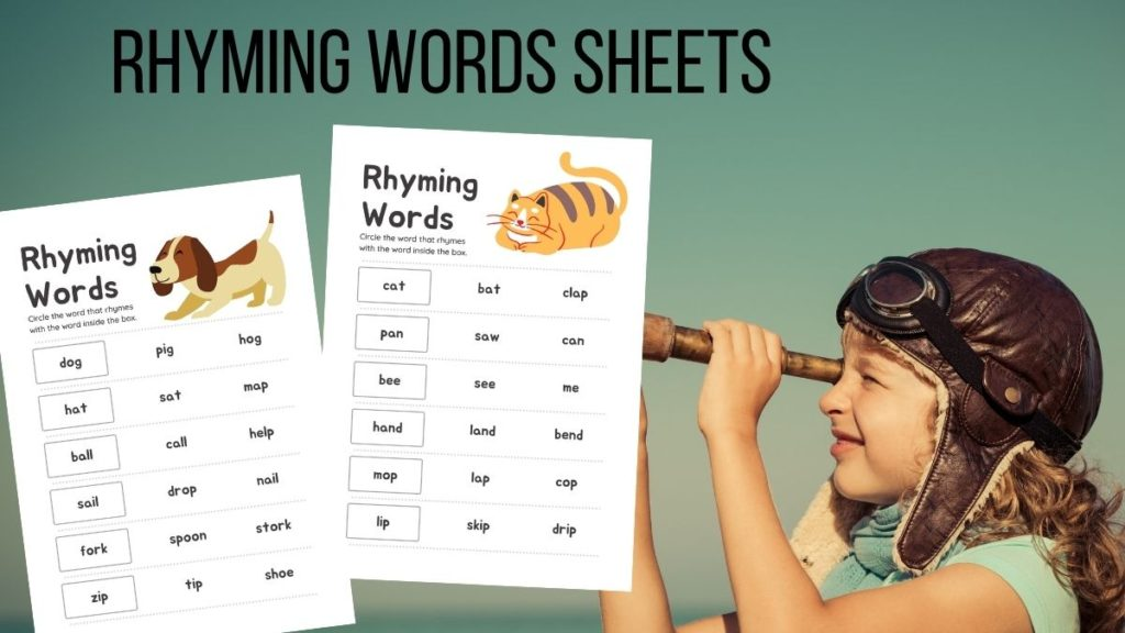 rhyming words activity sheets