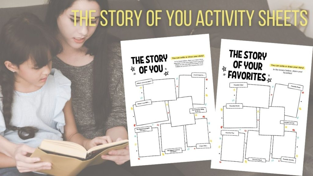 the story of you kids activity sheets