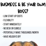 start your own dog poop removal business