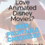free disney printable checklist