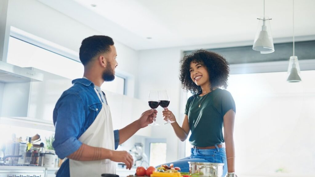 Cook Dinner at home with your partner - cheap date ideas